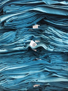 Stack of Blue T-shirts